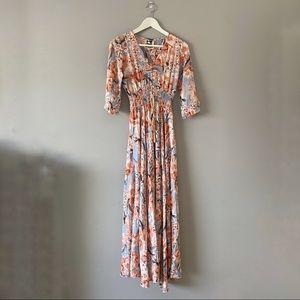 Jaase floral maxi dress size xs
